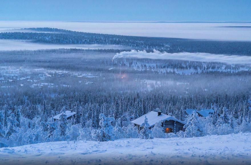 Как выглядит зима в Лапландии (18 фото)