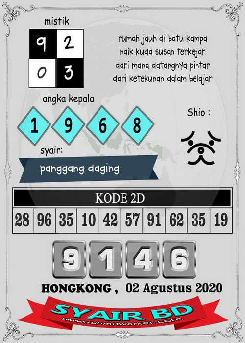 Kode syair Hongkong Minggu 2 Agustus 2020 285