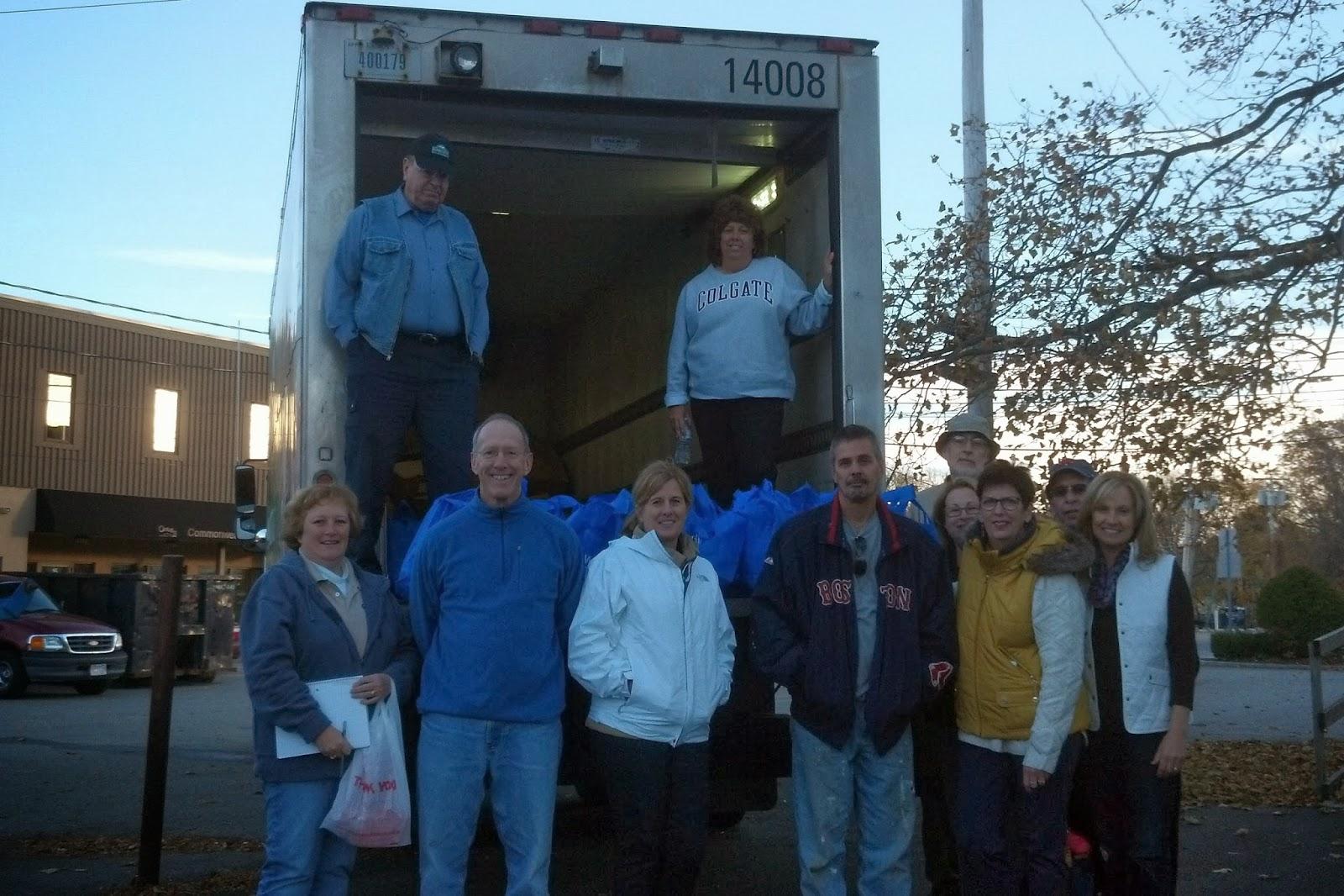 Distribute Frozen Turkey Food Bank Volunteer