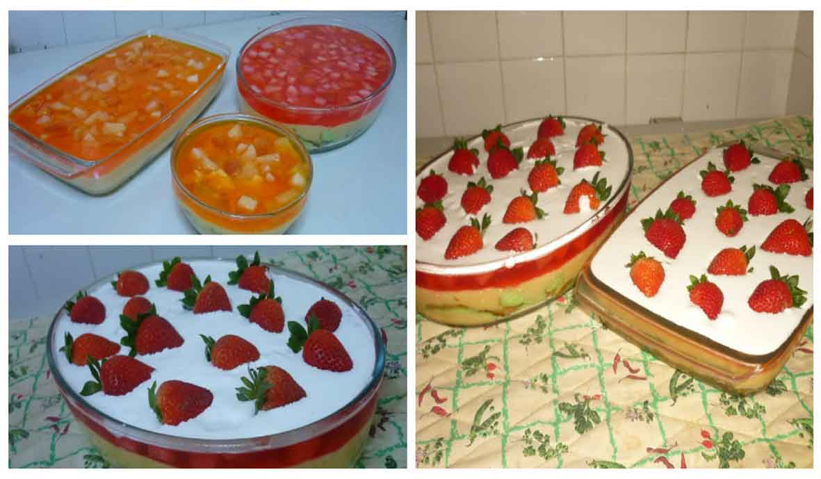 Puding Trifle Strawberry