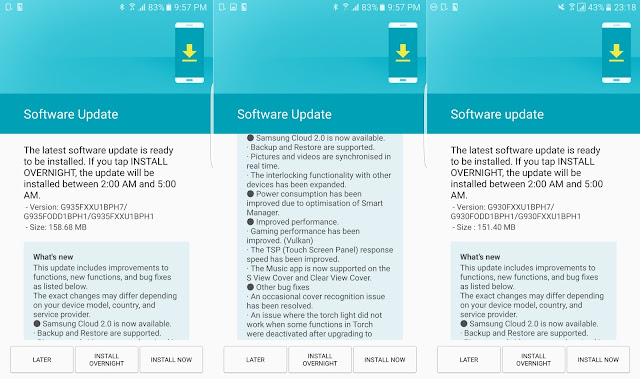 Samsung Galaxy S7 Edge & S7 Rolling Out With A New Update In India