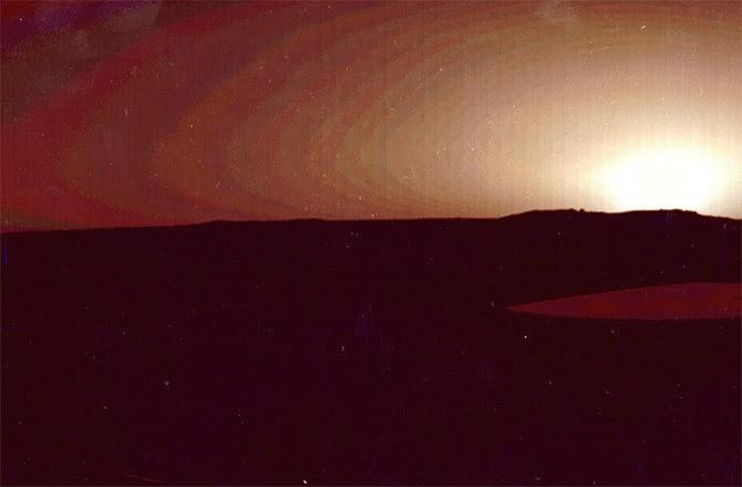 por do sol em marte - Viking 1 - Agosto de 1976