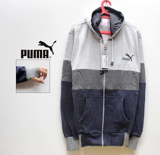 Jaket PUMA 3D 04 ABU MUDA, ABU TUA, HITAM. Code 04