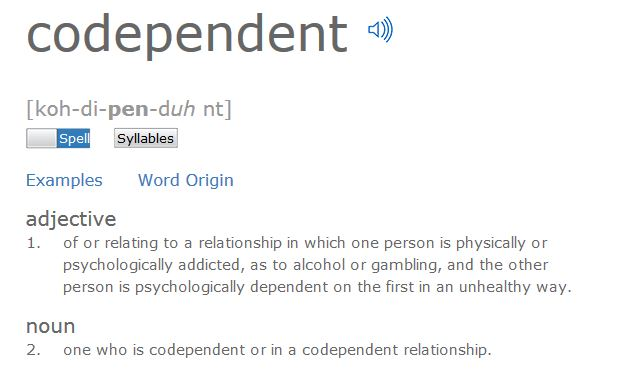 Examples of codependent relationships