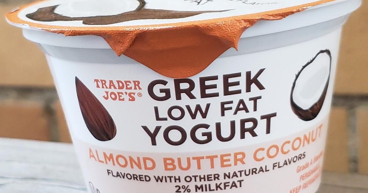 what 39 s good at trader joe 39 s trader joe 39 s almond butter coconut greek low fat yogurt. Black Bedroom Furniture Sets. Home Design Ideas
