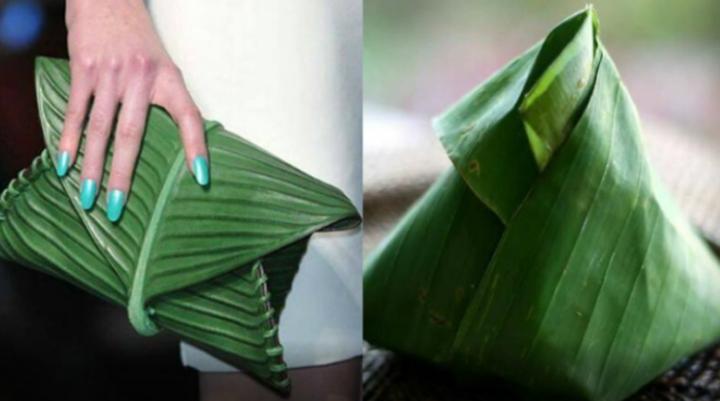Beg Tangan Seakan Nasi Lemak Daun Pisang Daripada Hermes