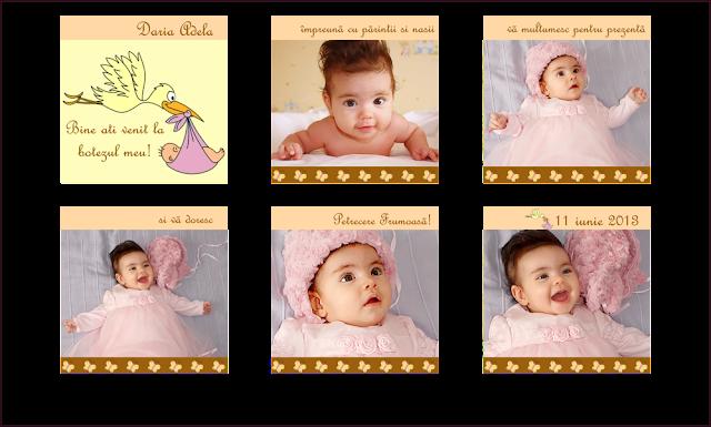 marturii botez minialbum fetite