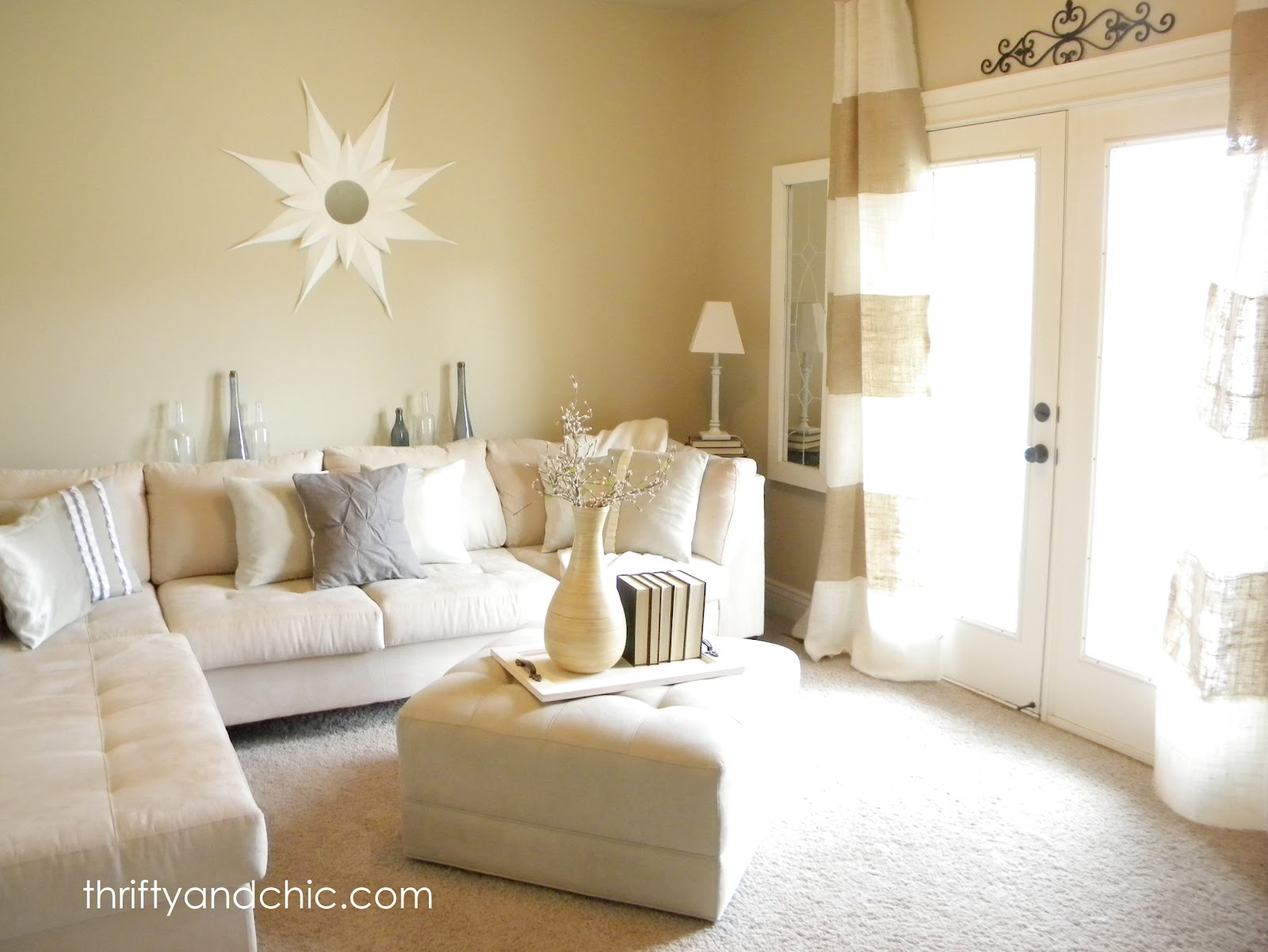 White Living Room Curtains: DIY Projects And Home Decor
