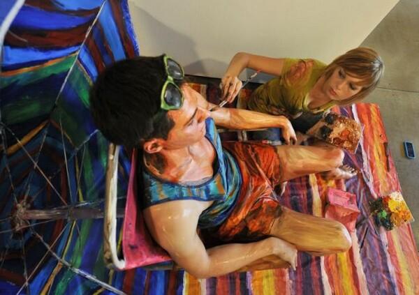 Human Acrylic Painting