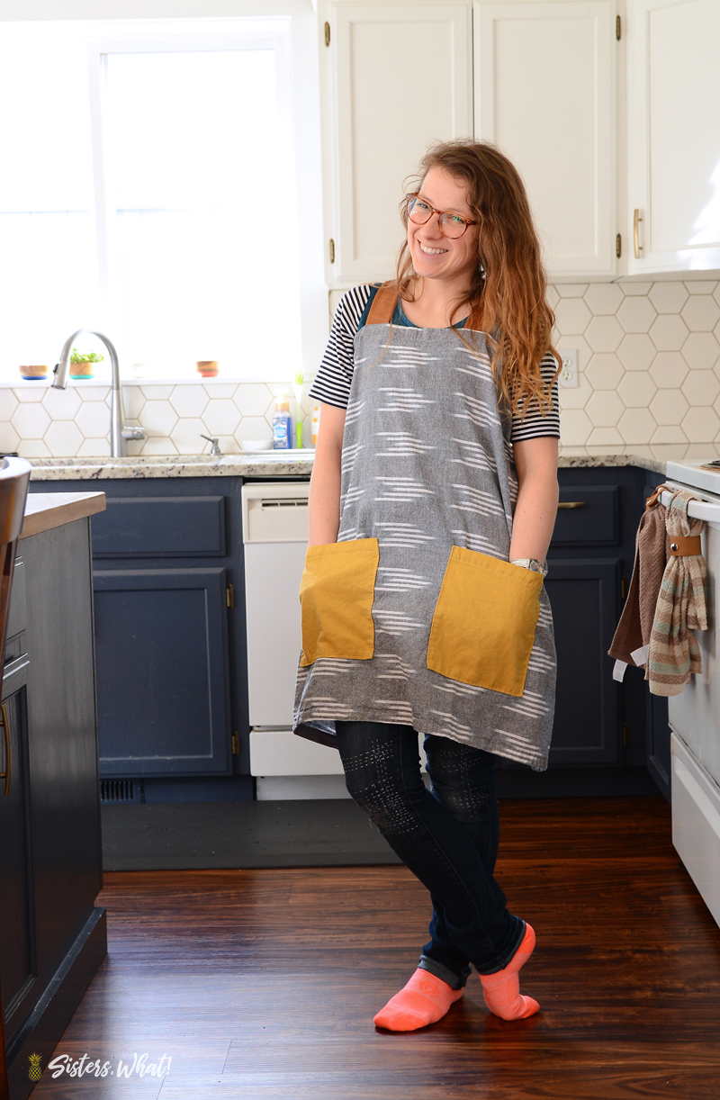 Farmhouse linen apron pattern tutorial