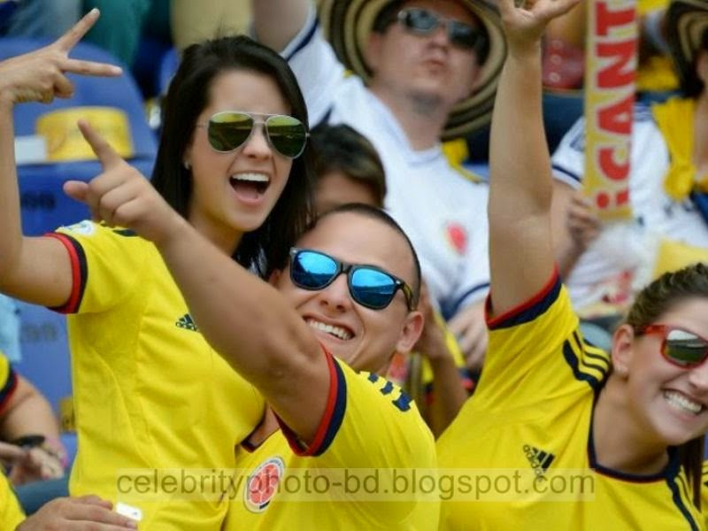 Sexy And Hot Girl Fans Photos Of Colombian From Football World Cup 2014