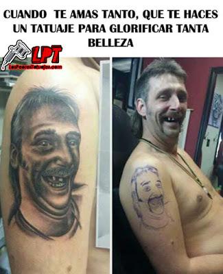 Memes de tatuajes : El hombre que se tatuó a si mismo