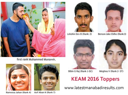 keam toppers 2016 district wise photos