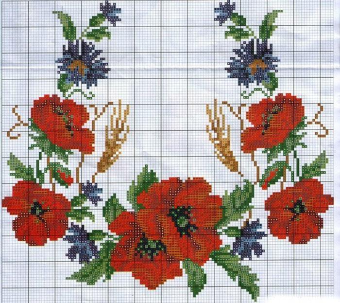 Блог Дзями Галини  Легкі схеми для вишивки хрестиком по клітинках f71feb835a60f