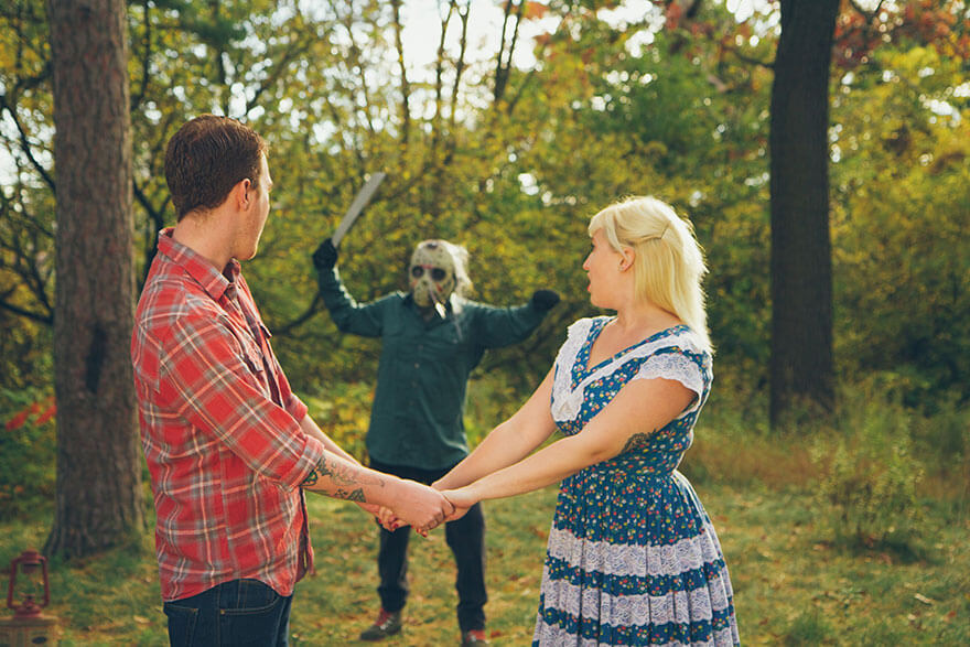 A Couple Had The Scariest Engagement Photoshoot