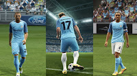 PES 2013 Manchester City + New Logo 2016-17 kits by Vulcanzero