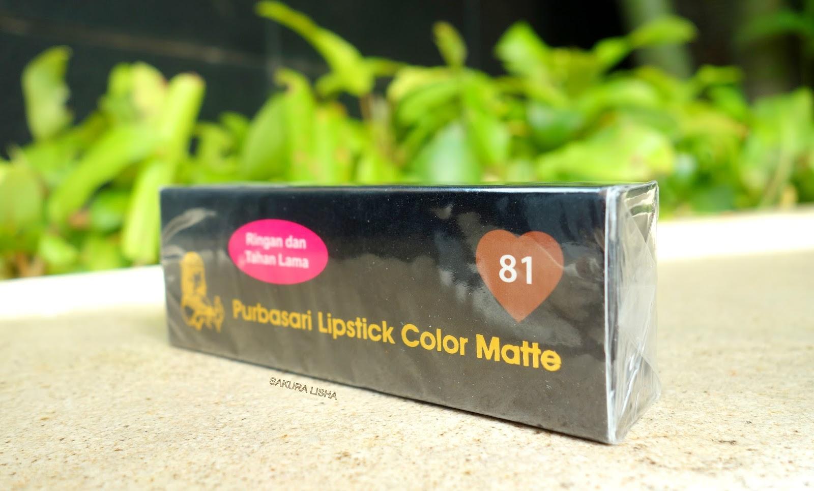 Sakura Lisha Review Purbasari Lipstick Color Matte No 81 Lipstik Collor Warna Packaging Adalah Hitam Menyala Dan Tertulis Shade Di Sebelah Pojok Kanan Atas