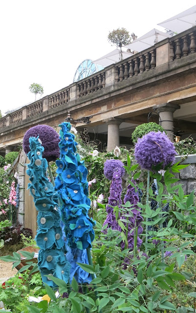 Fabric flowers in Covent Garden, London