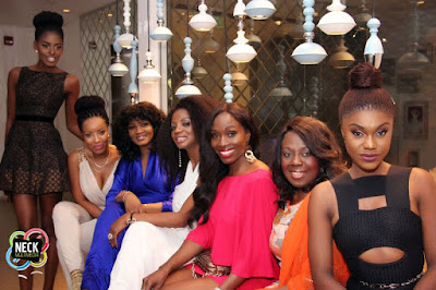 Photo: Friends throw birthday party for Omotola in Ghana