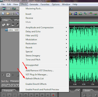 Tutorial adobe audition - Menambah VST plug in
