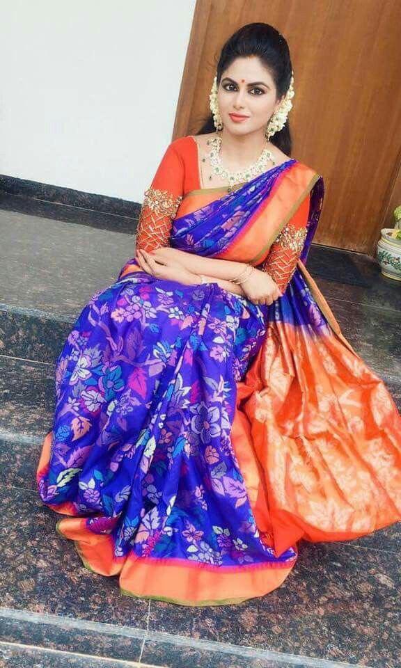 Shailaja Reddy Blue Uppada Sari