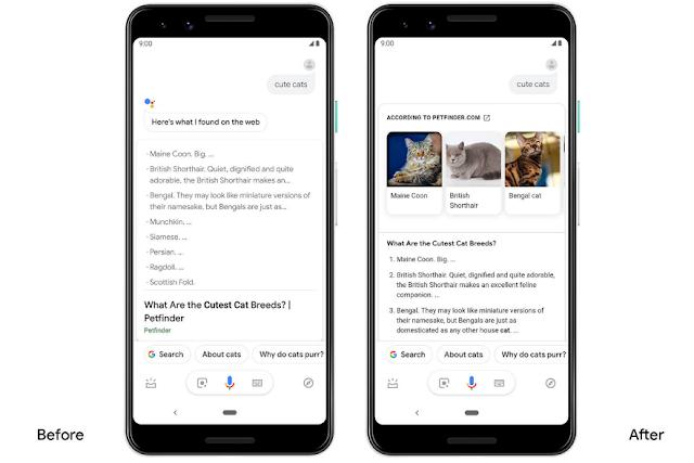 يقدم مساعد جوجل نتائج بحث أكثر حيوية على Android