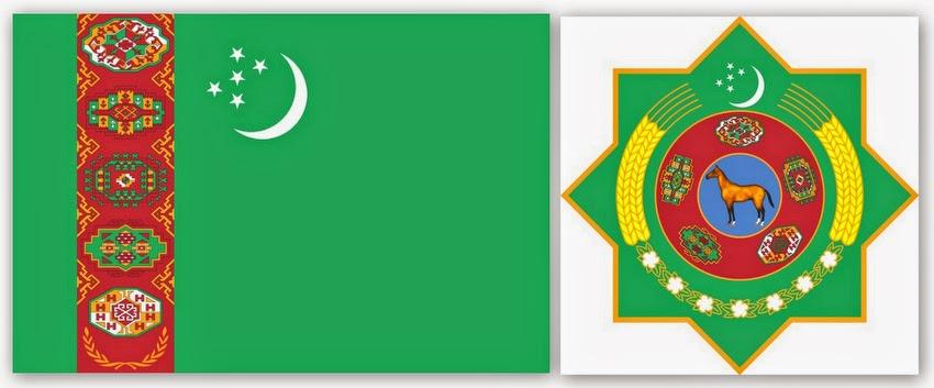 Флаг и герб Туркменистана