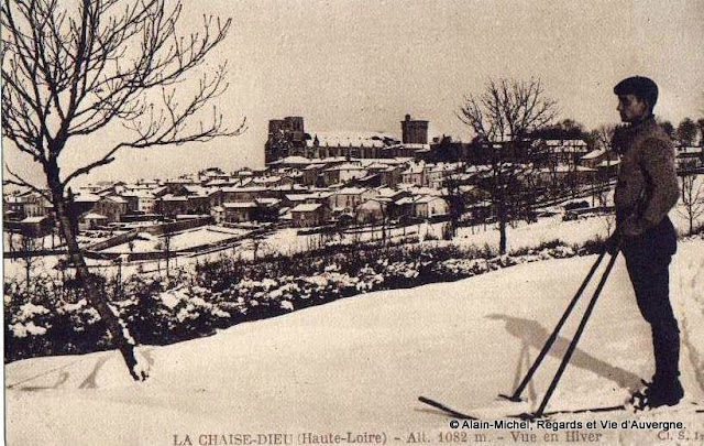 la neige en haute-Loire CPA la Chaise-Dieu
