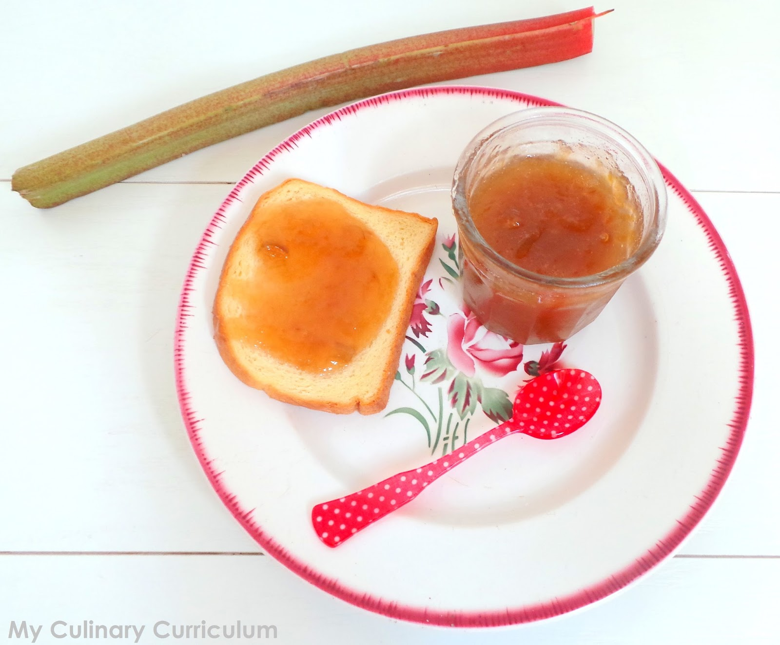 confiture de rhubarbe daddy