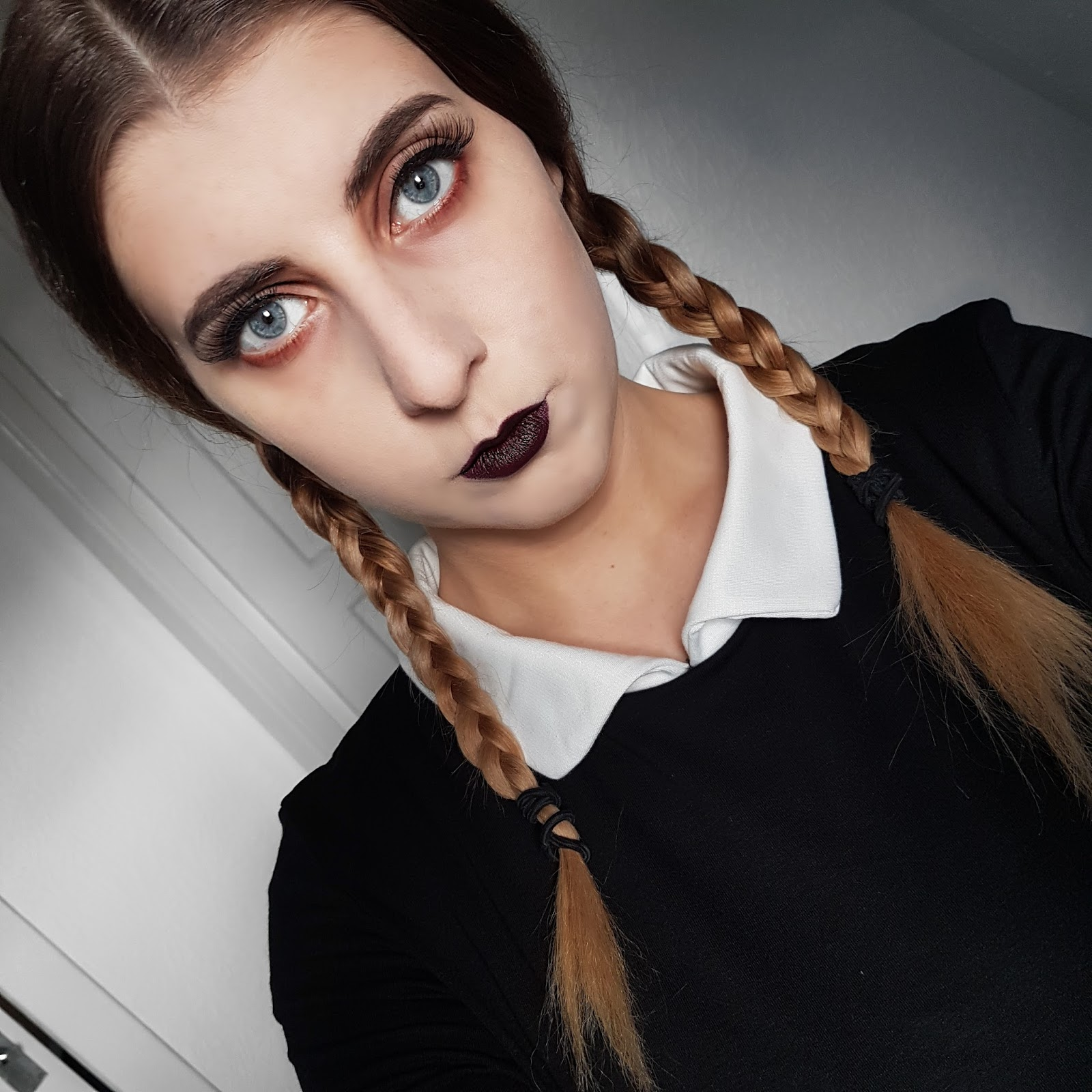 Wednesday Addams Halloween Make Up