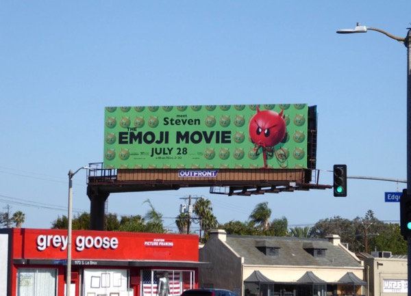 Emoji Movie Steven billboard