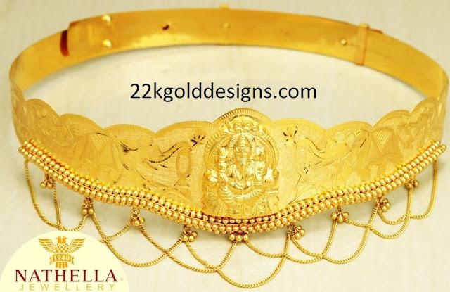22K Plain Gold Baby Vaddanam