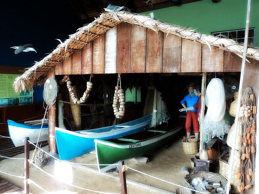 Rancho de Pesca no Museu do Mar, em São Francisco do Sul