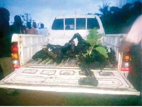 Drug Cartel Brutally Killed And Burnt 4 Policemen In Edo