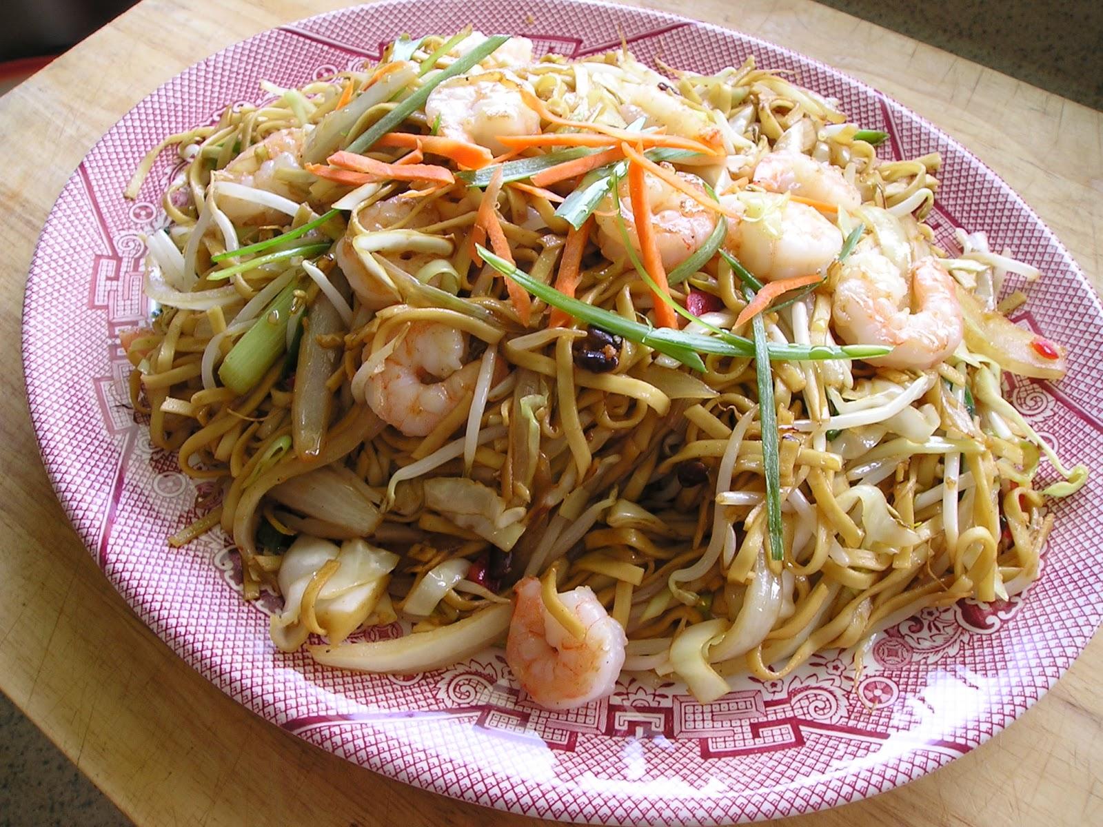 Traditional Chinese Recipes: Xia Ren Chao Mian (Shrimp ...