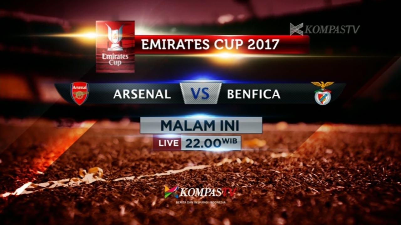 TV Yang Menyiarkan Emirates Cup 2017 Malam Hari Ini