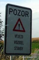 Pozor Vyjezd Vozidel Stavby