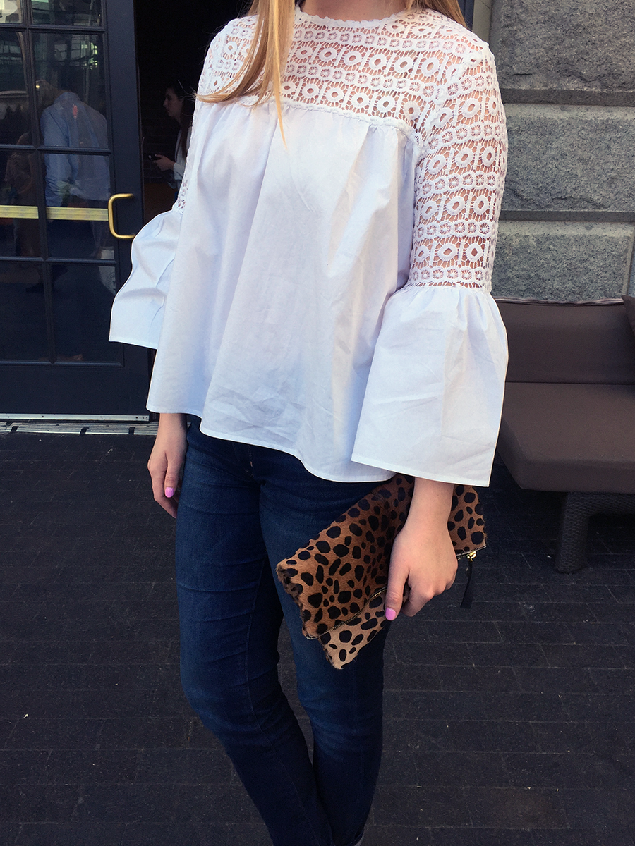 endless rose white blouse, shopbop endless rose top, boston blogger, liberty hotel outfits, liberty hotel courtyard