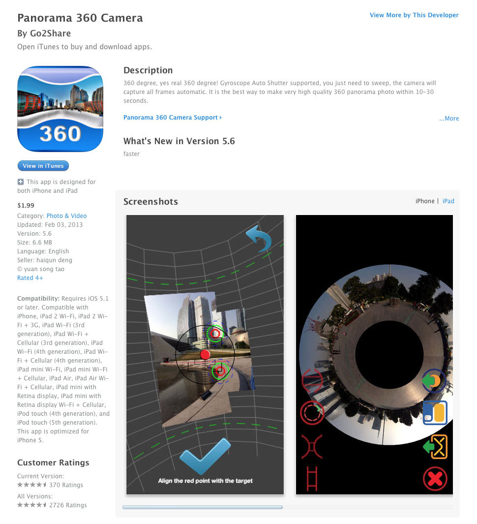 UCET Free iOS App Today: Panorama 360 Camera - UCET