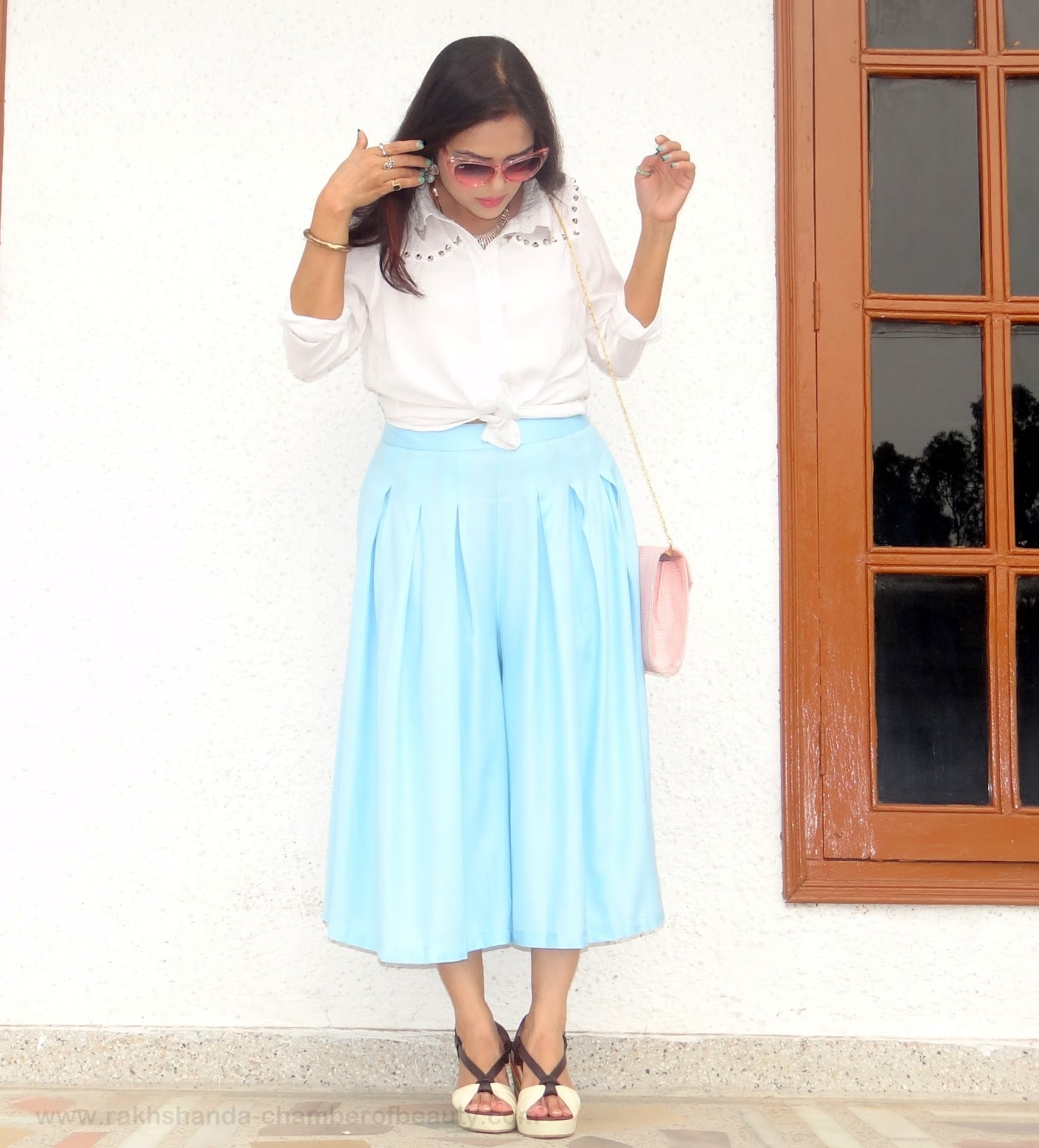 Gearing up for monsoons- OOTD | How to style culottes, fashion trends 2015, how to wear culottes, OOTD, outfit of the day, Stalkbuylove culottes, Indian fashion blogger