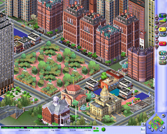 Screenshot of SimCity 3000