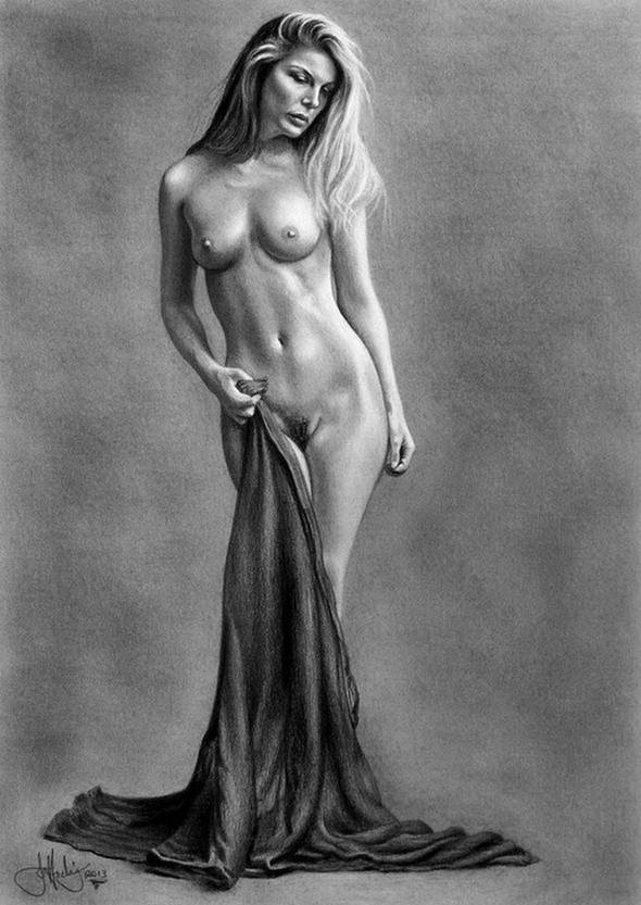 Nude Female Drawings 4
