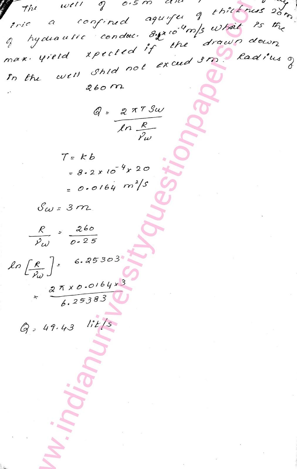 CE2028 Ground Water Engineering B E Civil Anna Univ Handwritten