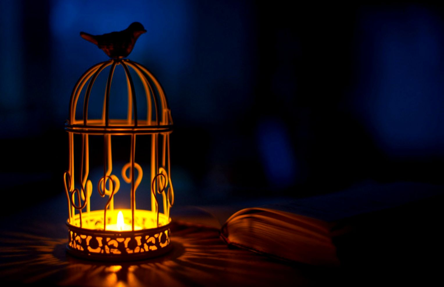 Wallpaper Of A Candle Holder That Looks Like A Bird Cage PaperPull
