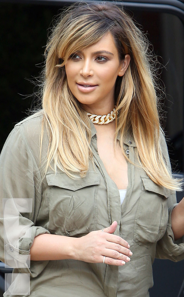 Kim Kardashian New Hairstyle Blonde Celebrity Blog