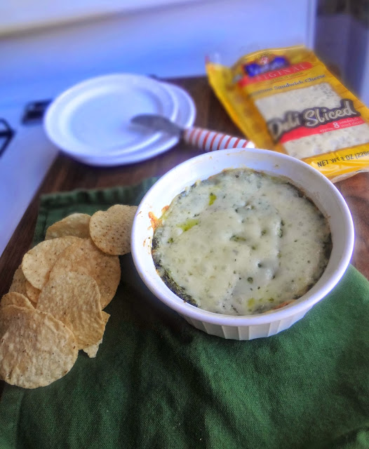 Spinach, Onion, and Swiss Dip for #SwissWeek