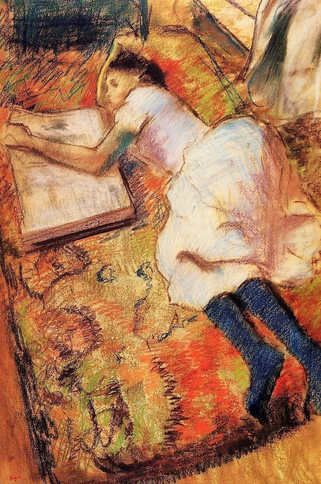 Edgar Degas - Young Girl Reading on the Floor