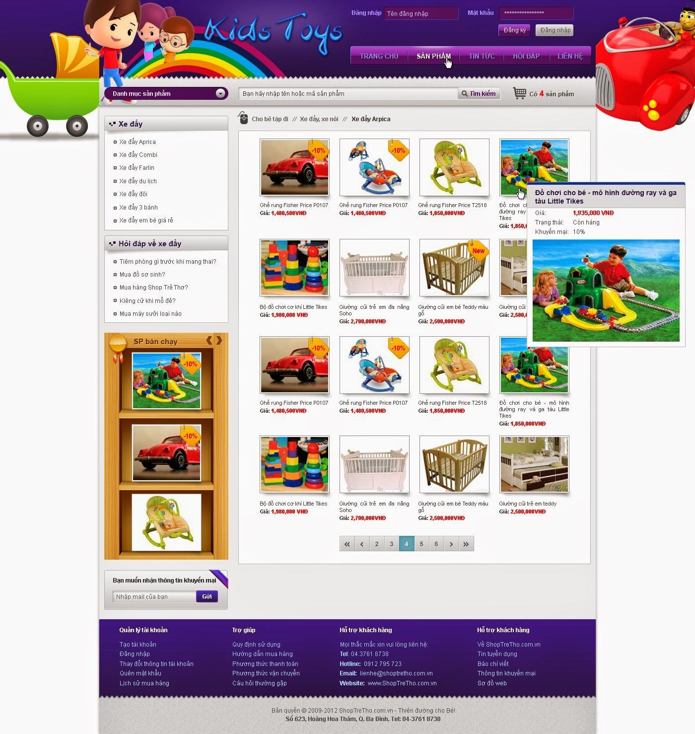 thiết kế web bán hàng đồ chơi chuyên nghiệp