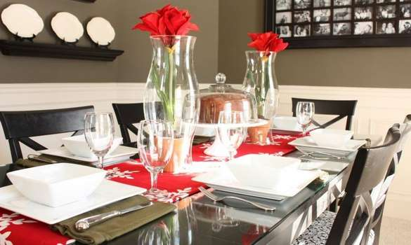 arrange a glass top dining table