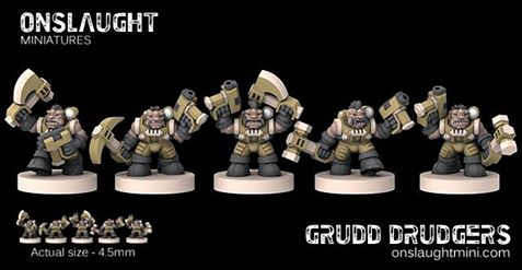 Tabletop Fix: Onslaught Miniatures - 6mm Grudd Drudgers Preview